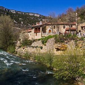 Río Rudrón a su paso por Valdelateja